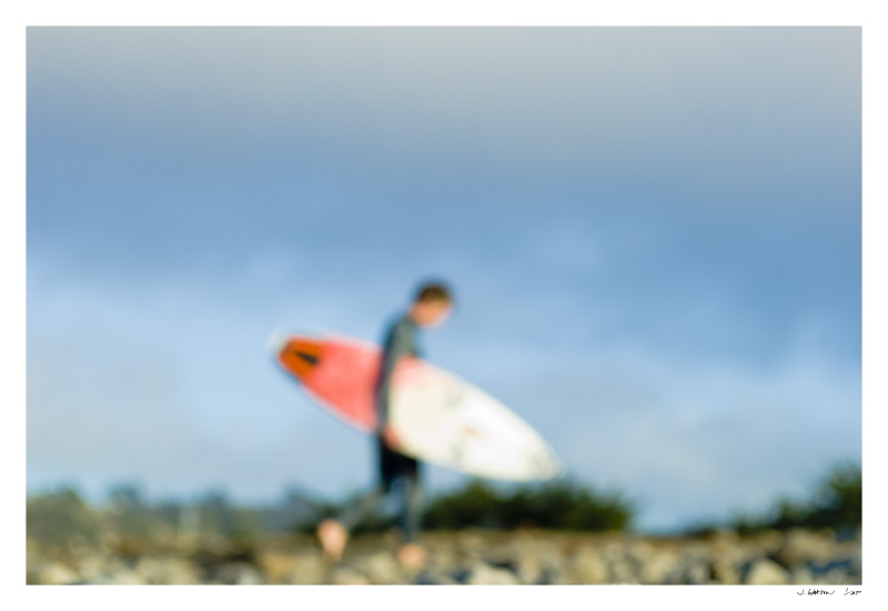 Portrait of a surfer at Pacifica, Ca