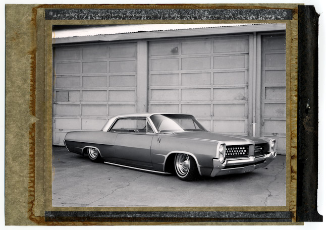 polaroid of a lowrider car. San Jose, CA
