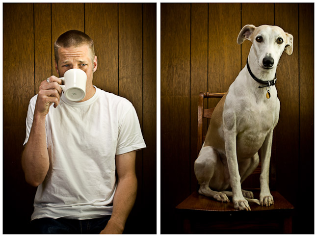 © Jay Watson Photography. diptych, self-portrait with Devo.
