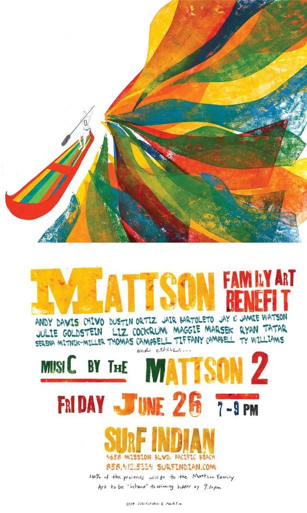 Mattson Family Art Benefit Poster