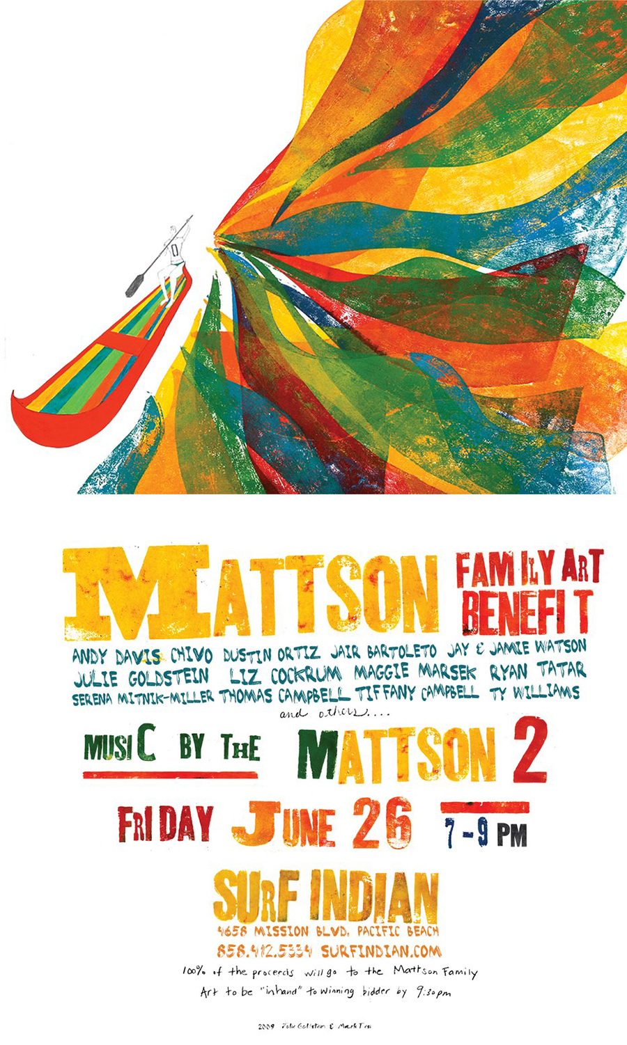 Mattson Family Art Benefit – June 26th San Diego