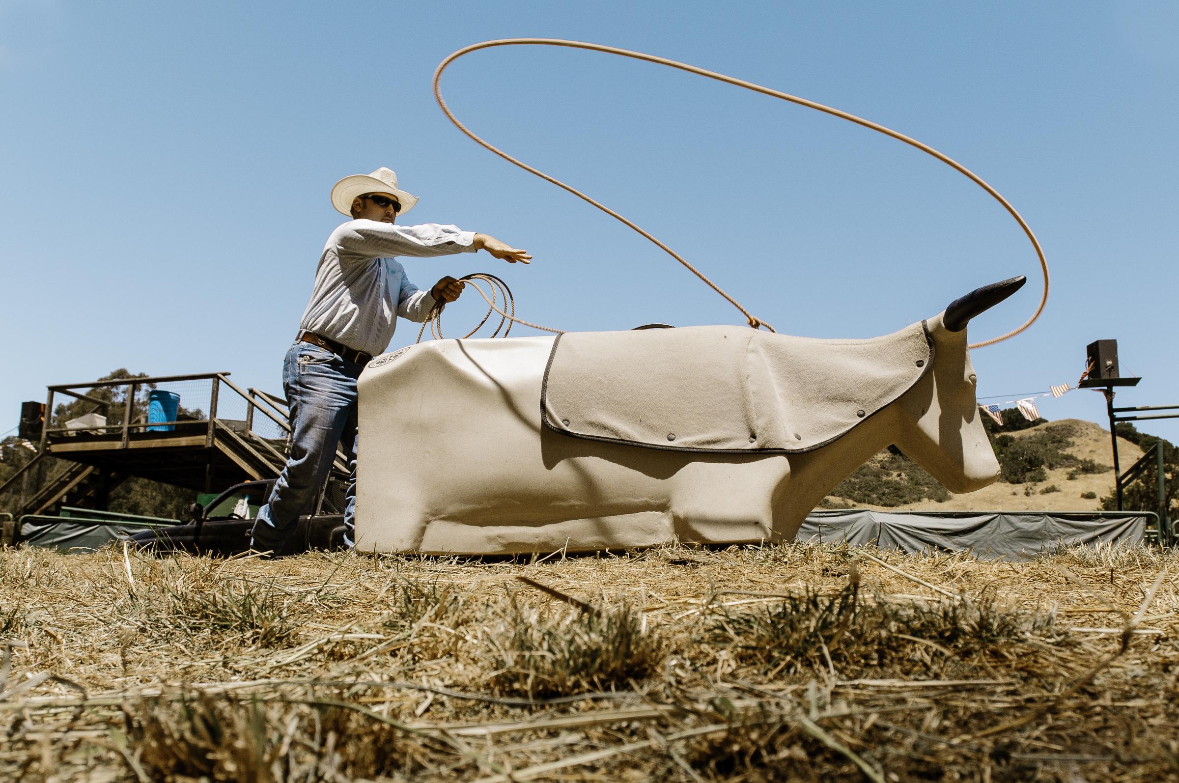 Calf Roping Practice. La Honda, CA