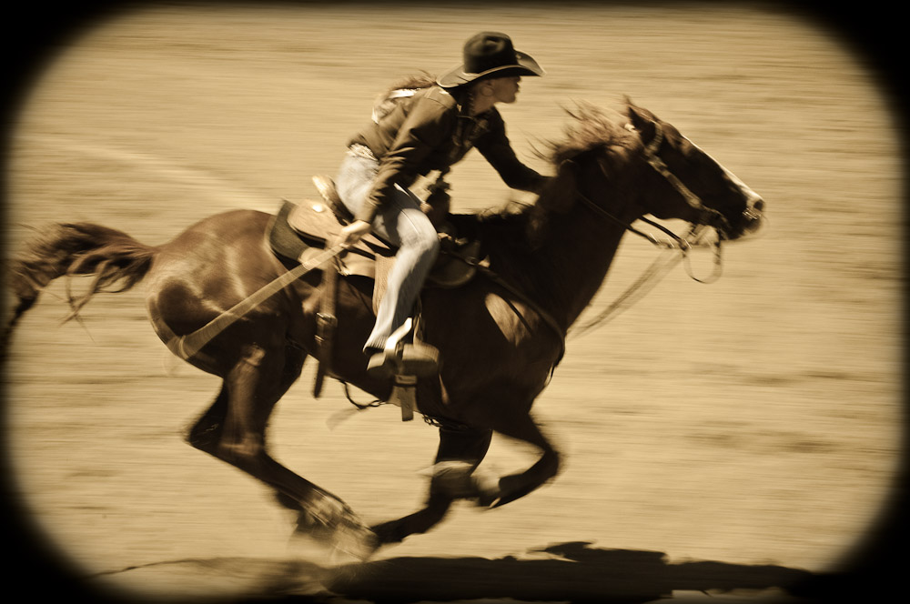 Driscoll Ranch Rodeo. Barrel Racer 2