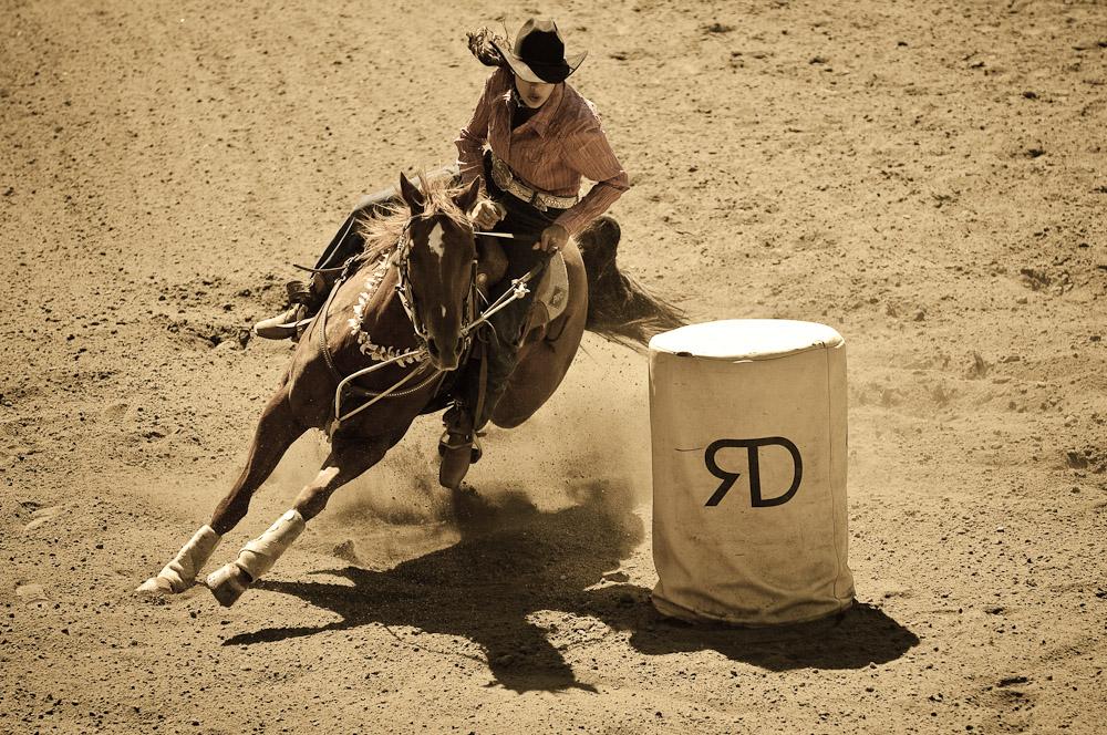 Driscoll Ranch Rodeo. Barrel Racer
