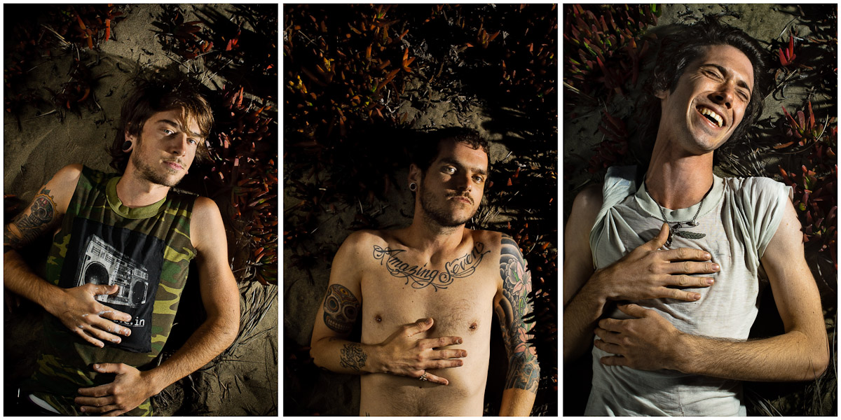 Outtakes from Inked Magazine shoot. Ian, Chicken, Nathan of Dead To Me. © Jay Watson