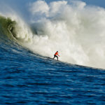 Tyler Smith surfing Mavericks in Half Moon Bay, CA