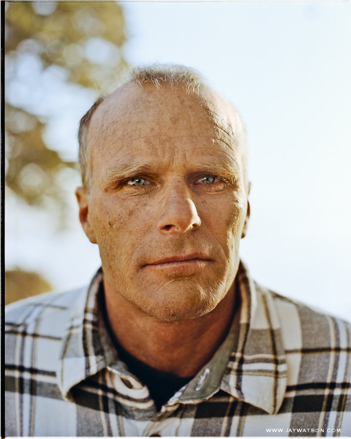 Portrait of Santa Cruz California surfer Richard Schmidt