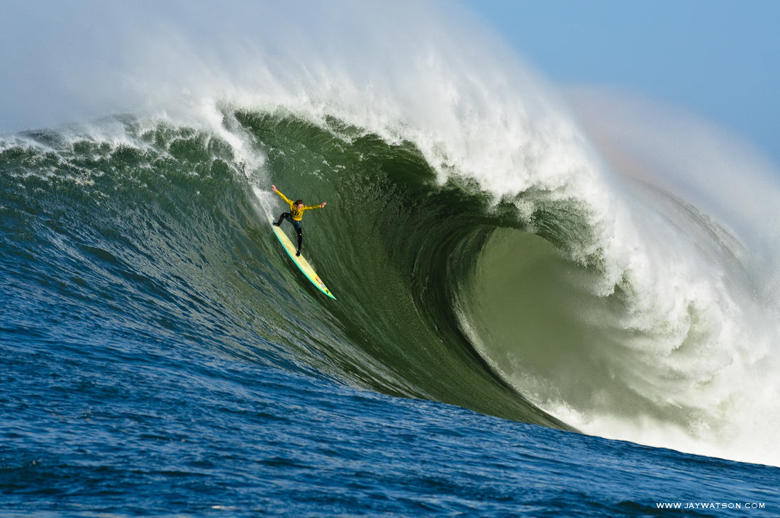 surfer Zach Wormhoudt Mavericks Half Moon Bay, CA.