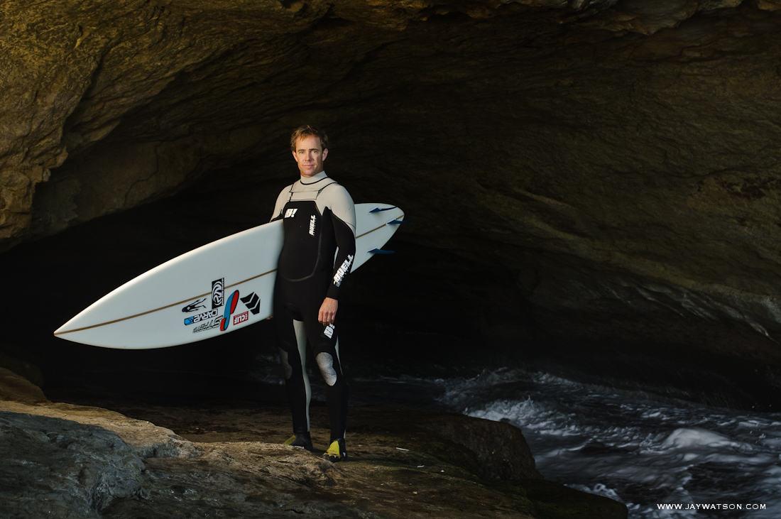 Surfer Zach Wormhoudt, Santa Cruz, CA. Cold Water Souls