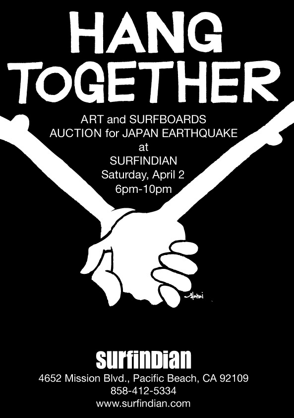 Art Show Benefit for Japan at Surfindian in San Diego