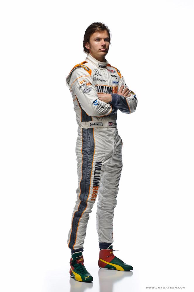 Studio portrait of Indycar Dan Wheldon. Sonoma Raceway