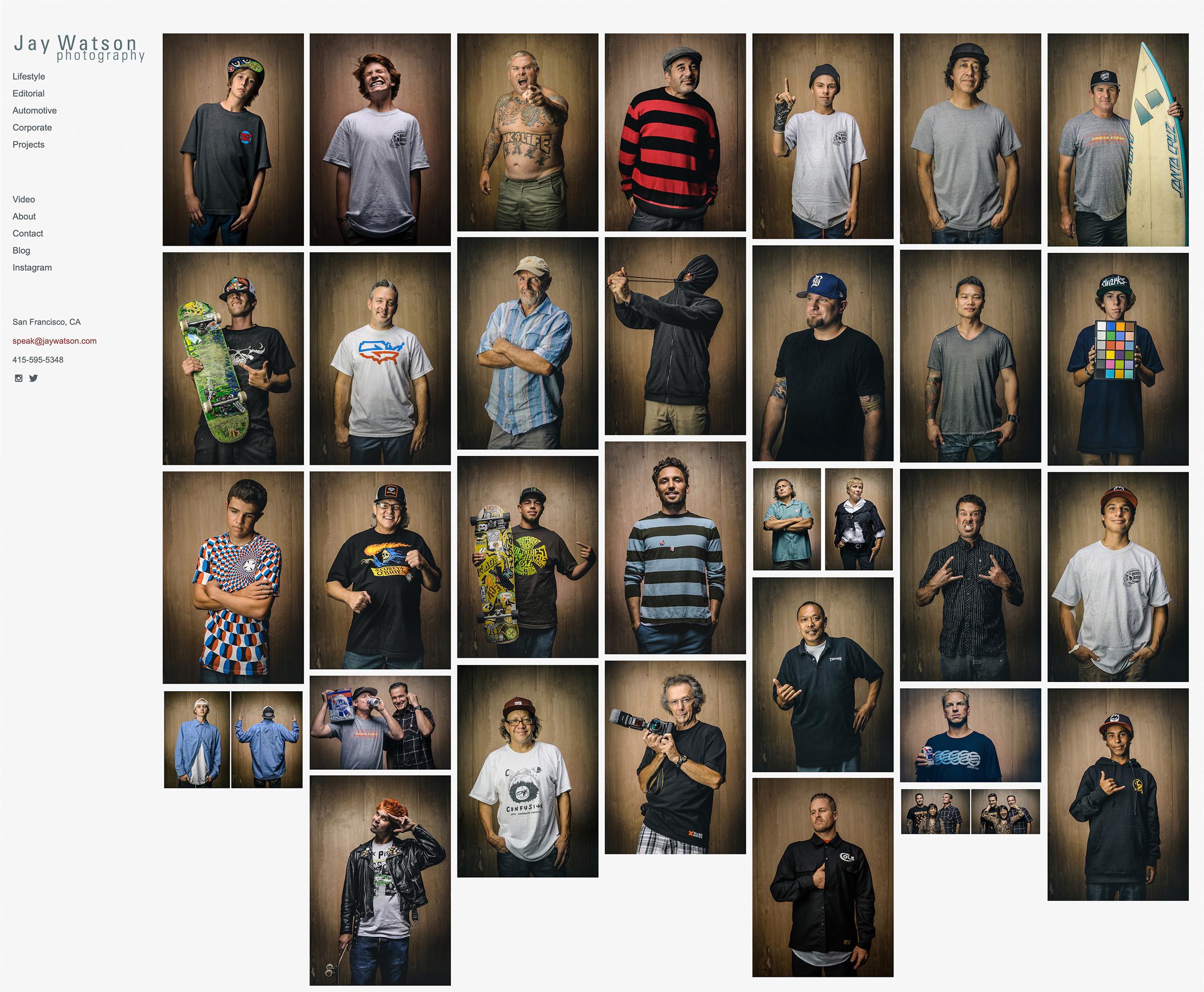 photo gallery of skateboarders in Santa Cruz, CA