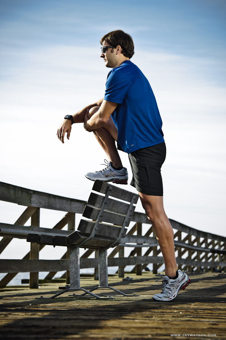 Triathlete Josh Bjornstad. Aptos, CA