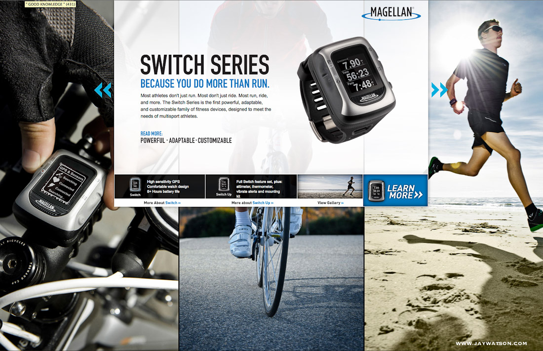 Magellan GPS Switch tearsheet