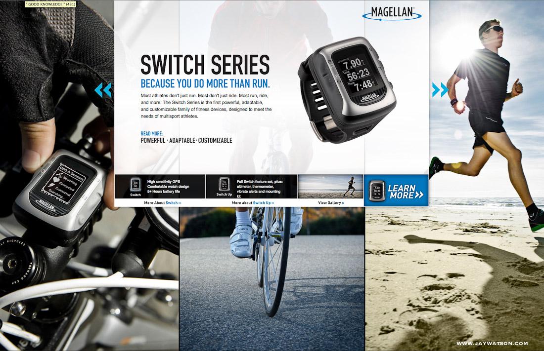 Magellan GPS Switch tearsheet