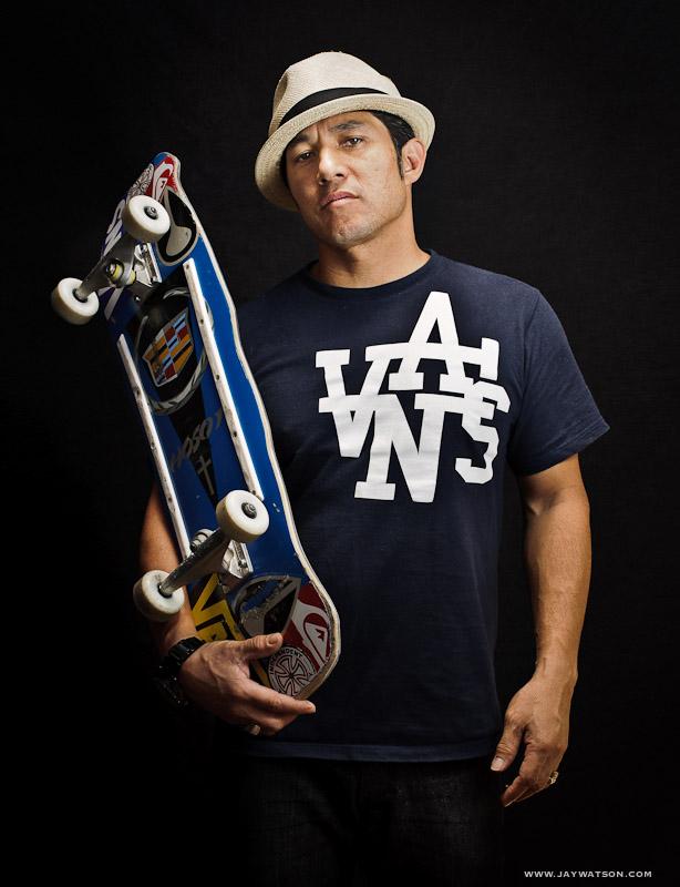 Christian Hosoi, pro skater. San Jose, CA