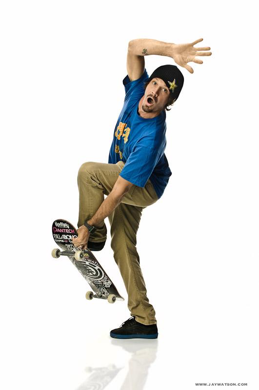 Bucky Lasek, pro skateboarder. Encinitas, CA