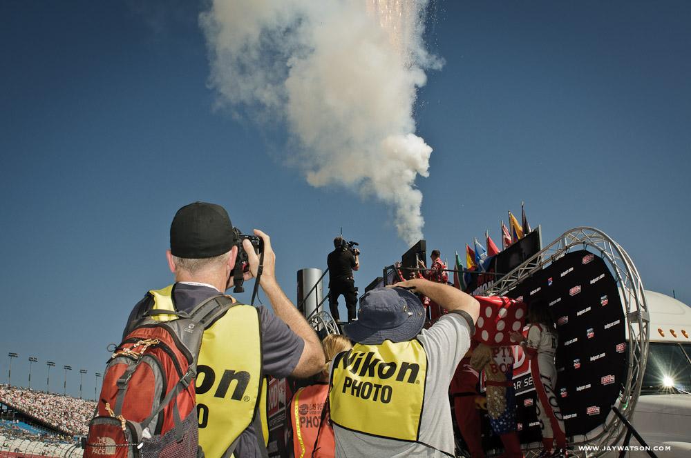 Dario Franchitti's introduction at Las Vegas Motor Speedway