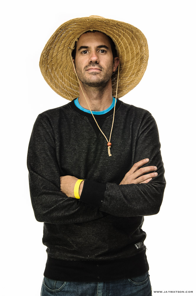 Studio portrait of Bob Burnquist