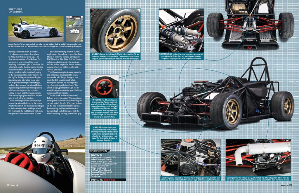 Tearsheet spread in EVO Magazine, a British performance car publication.