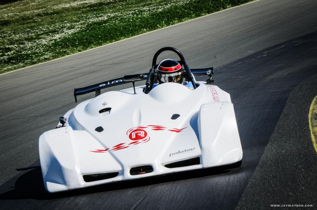 Leo Parente behind the wheel of the Palatov.