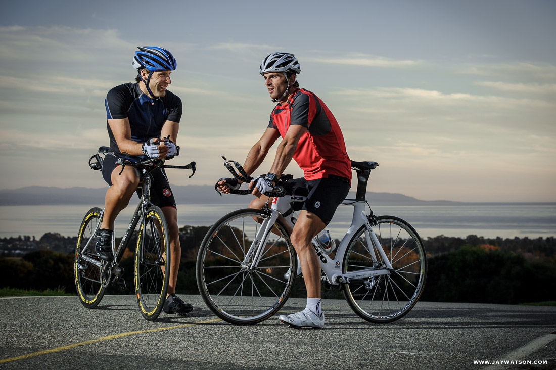 Triathletes Josh Bjornstad + Eric Clarkson