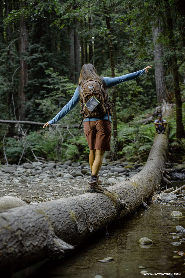 Hiking scene - Lifestyle product photography shoot Aptos, CA