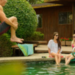Pool scene - Eton lifestyle product photography shoot Woodside, CA