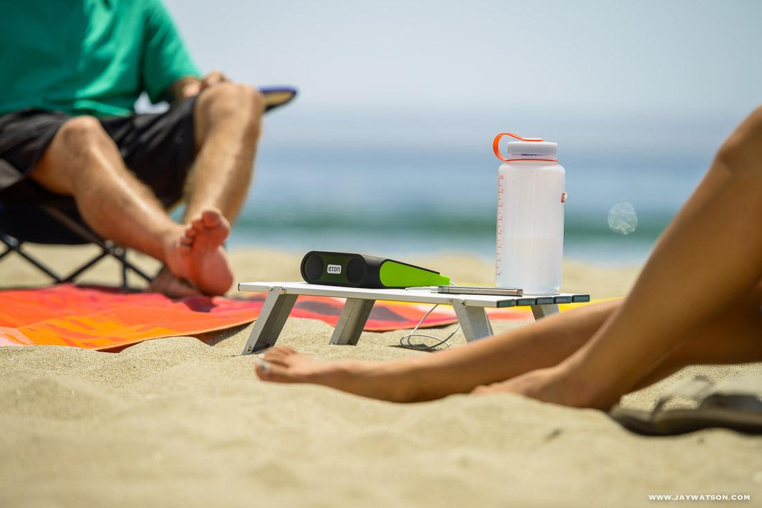 beach scene - Eton lifestyle product photography