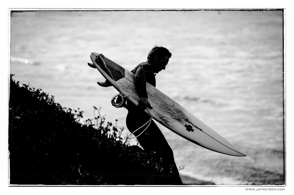 Justin Surfing at Waddell Creek