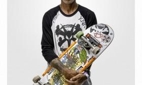 Portrait of Skateboarder Mark Partain