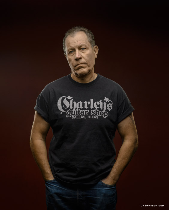 Jim Heath of The Reverend Horton Heat at The Chapel in San Francisco for Inked Magazine.