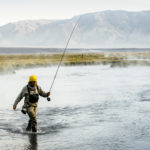 Fly fishing Hot Creek at Mammoth Lakes, CA