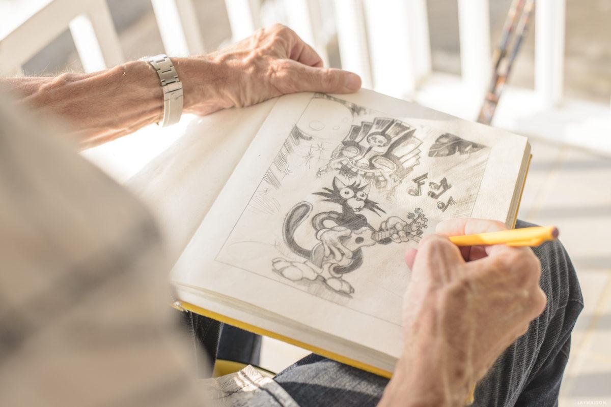 sketchbook of Tiki artist Brad Parker