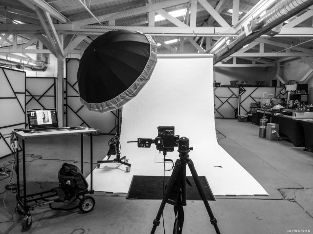 BTS portrait studio set up