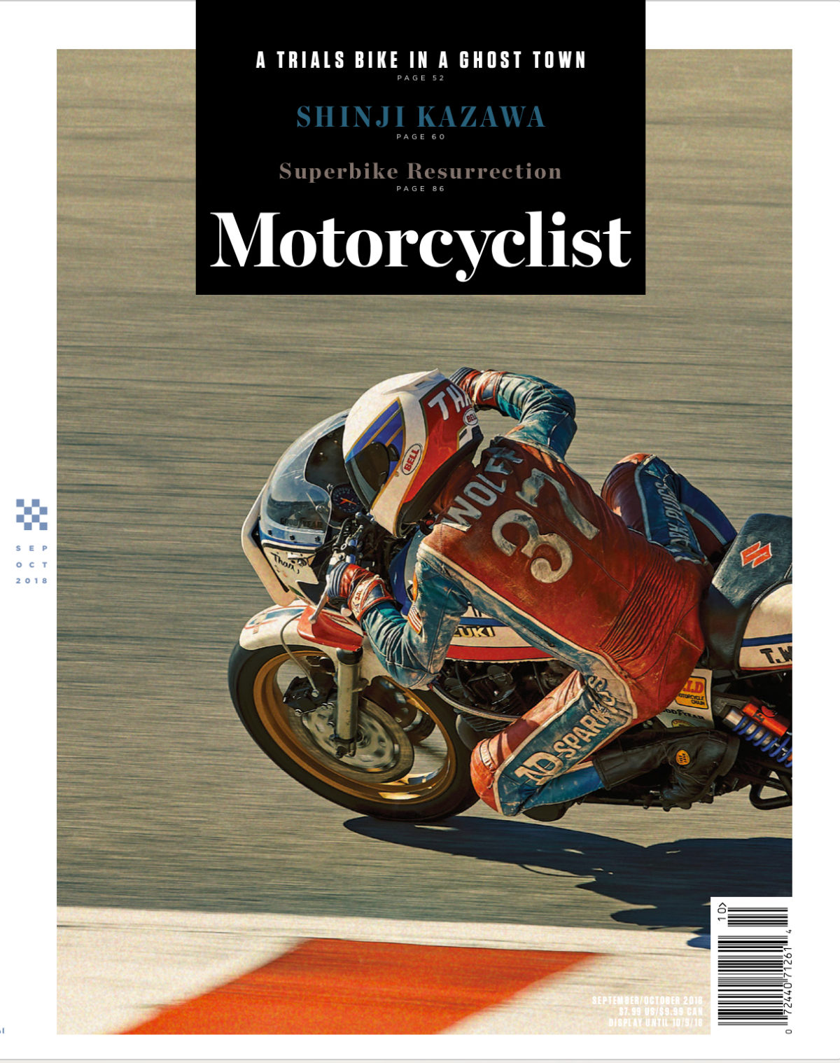 Thad Wolff racing at Lagua Seca for Motorcyclist Magazine
